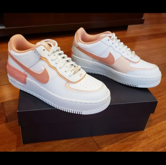 Nike Shoes New Nike Air Force Shadow Pink Quartz Sneakers Poshmark The women's exclusive air force 1 shadow by nike will have you seeing double. poshmark